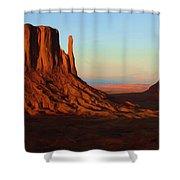 Monument Valley 2 Shower Curtain by Ayse Deniz