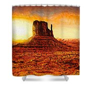 Monument Valley Shower Curtain by Mo T