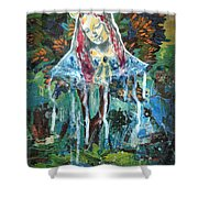 Monumental Tree Goddess Shower Curtain by Genevieve Esson