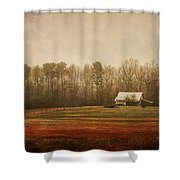 Moody Morning Stillness Shower Curtain by Paulette B Wright