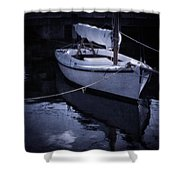 Moonlight Sail Shower Curtain by Amy Weiss