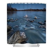 Moonlight Sonata Shower Curtain by Davorin Mance