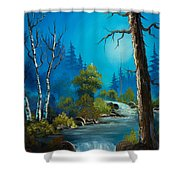 Moonlight Stream Shower Curtain by C Steele