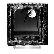 Moonlight Surf Shower Curtain by Athala Carole Bruckner