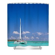 Moorea Lagoon No 4 Shower Curtain by David Smith