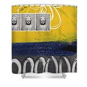 Morning Buddha Shower Curtain by Linda Woods