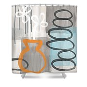Morning Flowers Shower Curtain by Linda Woods