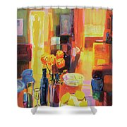 Morning In Paris Shower Curtain by Martin Decent