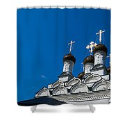 Morning In The Old City - Feature 3 Shower Curtain by Alexander Senin
