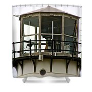 Morning Mist At Chatham Light Shower Curtain by Ira Shander