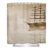 Morning Mist In Sepia Shower Curtain by John Edwards