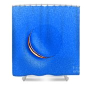 Morning Moon Blue Shower Curtain by Al Powell Photography USA