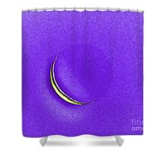 Morning Moon Purple Shower Curtain by Al Powell Photography USA