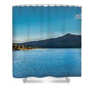 Morning View Of Cascade Reservoir  Shower Curtain by Robert Bales