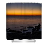 Morning Water Colors Shower Curtain by CJ Schmit