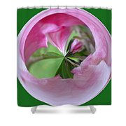 Morphed Art Globe 11 Shower Curtain by Rhonda Barrett