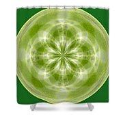 Morphed Art Globe 27 Shower Curtain by Rhonda Barrett