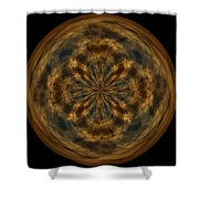 Morphed Art Globe 29 Shower Curtain by Rhonda Barrett