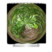 Morphed Art Globe 3 Shower Curtain by Rhonda Barrett