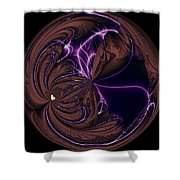 Morphed Art Globe 39 Shower Curtain by Rhonda Barrett