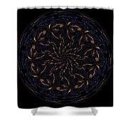Morphed Art Globes 14 Shower Curtain by Rhonda Barrett