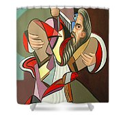 Moses Shower Curtain by Anthony Falbo
