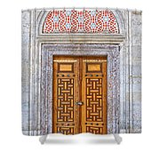 Mosque Doors 04 Shower Curtain by Antony McAulay