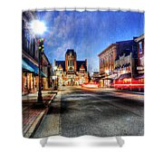 Most Beautiful Small Town In America At Christmas Shower Curtain by Darren Fisher