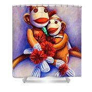 Mother And Child Shower Curtain by Shannon Grissom