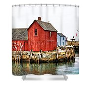 Motif Number 1 Rockport Ma Shower Curtain by Jack Schultz