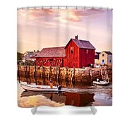 Motif Number One Rockport Massachusetts Shower Curtain by Bob and Nadine Johnston