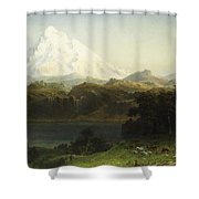 Mount Hood In Oregon Shower Curtain by Albert Bierstadt