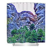 Mount Rushmore Roosevelt Shower Curtain by Tommy Anderson