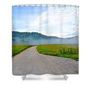 Mountain Air Shower Curtain by Frozen in Time Fine Art Photography