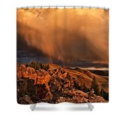 Mountain Drama Shower Curtain by Leland D Howard