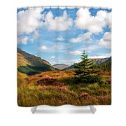 Mountain Pastoral. Rest And Be Thankful. Scotland Shower Curtain by Jenny Rainbow
