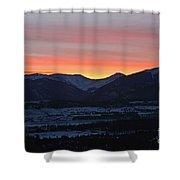 Mountain Sunrise Shower Curtain by Fiona Kennard