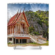 Mountain Temple Shower Curtain by Adrian Evans
