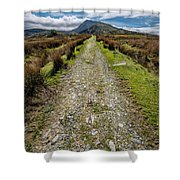 Mountain Track Shower Curtain by Adrian Evans