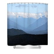 Mountain Valley Shower Curtain by Kirt Tisdale