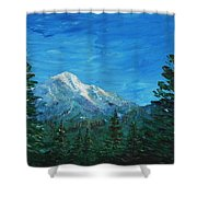 Mountain View Shower Curtain by Anastasiya Malakhova