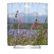 Mountain Wildflowers Shower Curtain by Juli Scalzi