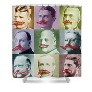 Moustaches Shower Curtain by Tony Rubino