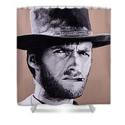 Mr. Eastwood Shower Curtain by Ellen Patton