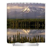 Mt Drum Over Willow Lake Wrangell-st Shower Curtain by Calvin Hall