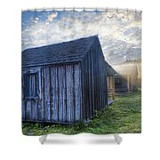 Mt Leconte Cabins Shower Curtain by Debra and Dave Vanderlaan