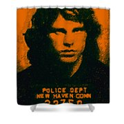 Mugshot Jim Morrison Shower Curtain by Wingsdomain Art and Photography