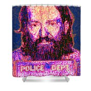 Mugshot Willie Nelson Painterly 20130328 Shower Curtain by Wingsdomain Art and Photography