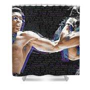 Muhammad Ali Shower Curtain by Tony Rubino