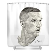 Mullin Shower Curtain by Tamir Barkan